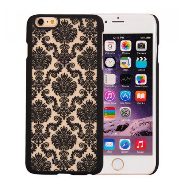 Ovitek s čipkastim vzorcem - črn (Iphone 5&6, Samsung)