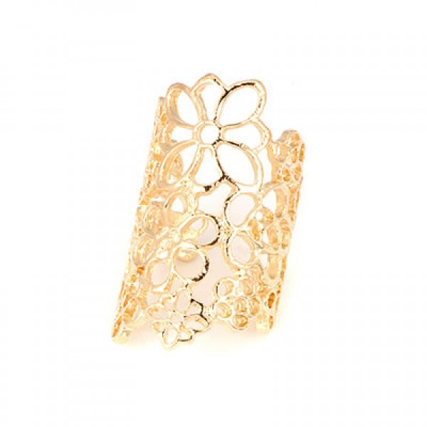 Prstan Flower Power - zlat