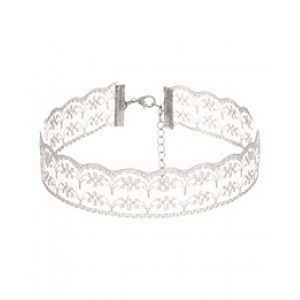 Lace choker - bela čipkasta ogrlica