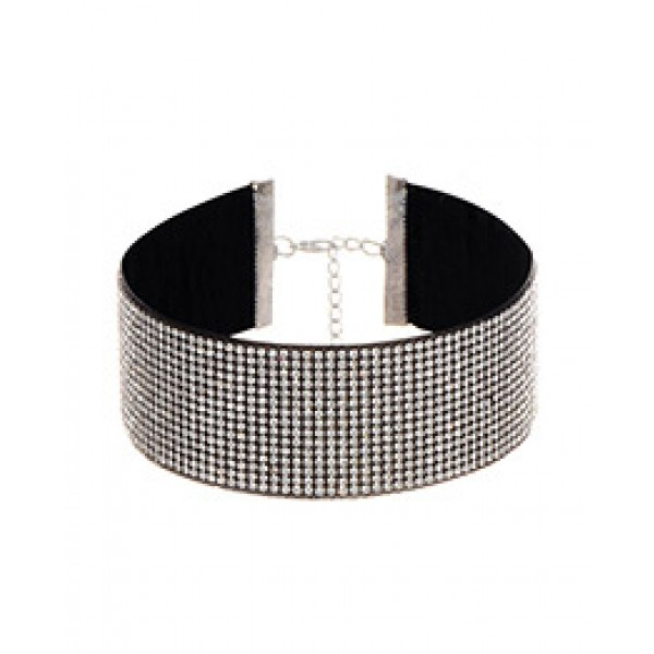 Party Girl - črna choker verižica (široka)