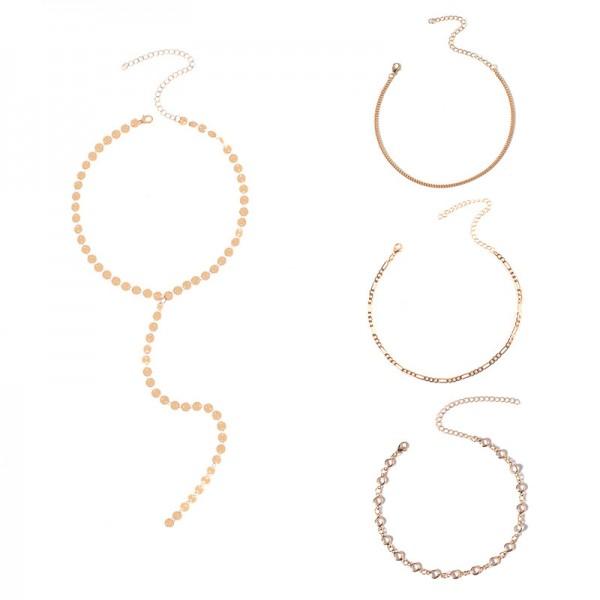 Metal mama set - zlat (komplet štirih verižic)