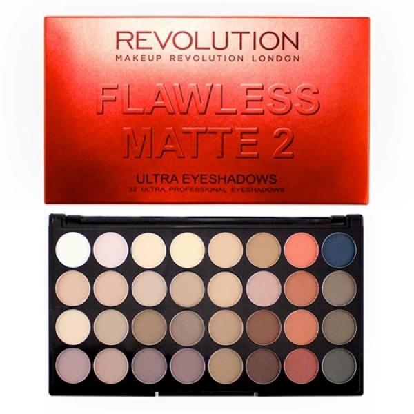 Makeup Revolution paleta 32 senčil - Flawless Matte 2