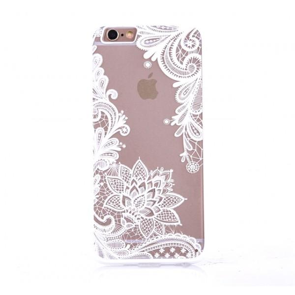 Čipkast - bele barve (Iphone 5/5S/SE&6/6S)