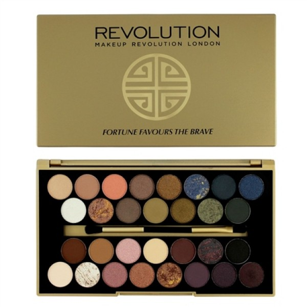 Makeup Revolution paleta 32 senčil - fortune favours the brave