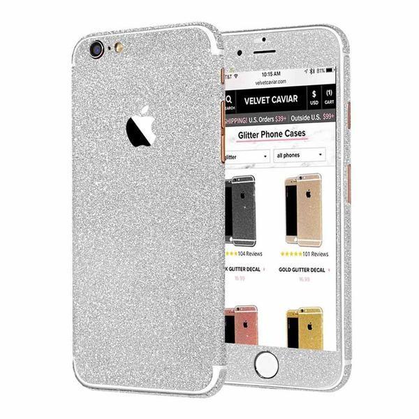Nalepke za Iphone 5&6 Glitter - srebrne