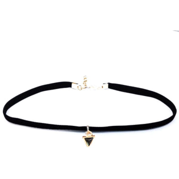 Verižica Black Choker - mini triangle