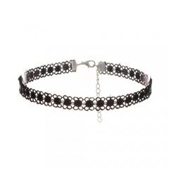 Black choker - črna čipkasta ogrlica