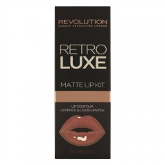 Makeup Revolution set tekoče šminke in črtala Retro Luxe Kits Matte - Echelon