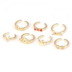 Prstani Seven sins (komplet  klasičnih in midi prstanov - za nošenje nad členkom)