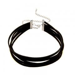 Layered choker - črna ogrlica s petimi sloji