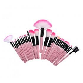 MAKEUP4U - set 32 čopičev (roza)