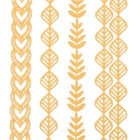 Flesh Metalic tatoos - kompletek začasnih zlatih tatoojev (za telo ali lase)