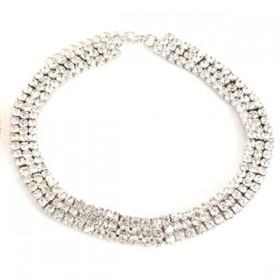 Sparkler - srebrna choker verižica
