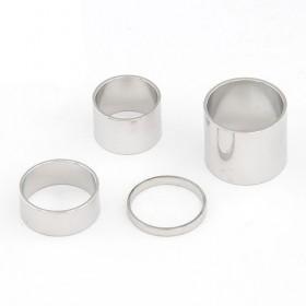 Komplet prstanov Four Keeps - srebrni (klasični + midi prstani)