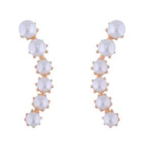 Uhani Pearly whites - zlati (stojijo ob ušesu)