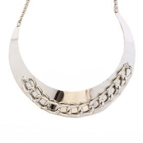 Ogrlica Metallic Chain  - srebrna