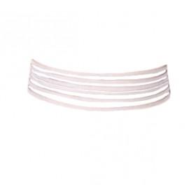 Layered choker - bela ogrlica s petimi sloji