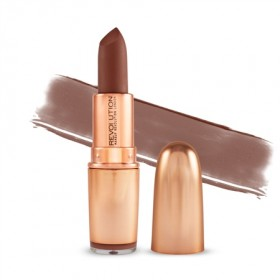 Makeup Revolution šminka - Iconic Matte Nude Revolution Lipstick - Inclination