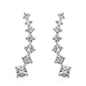 Uhani Pearly Whites s kristalčki