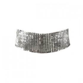 Silver fox - srebrna choker verižica
